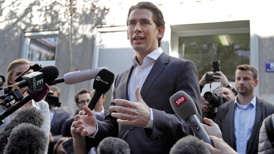 Young minister's party leads Austria vote, bodes right turn