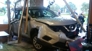 SUV crashes into a Stratford restaurant on Oct. 15, 2017. (Sherrie Giddings)