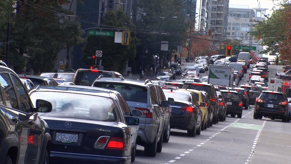 Halloween Parade traffic