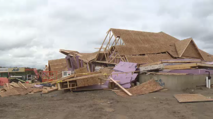 New build homes in Waterloo damaged by wind storm. (Oct. 15, 2017)