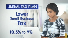 CTV National News: Liberals' tax announcement
