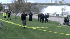 Police are investigating after a 10-year-old boy fell from a gate at Niagara Falls.