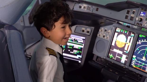 six year old aircraft genius becomes pilot for a day ctv news