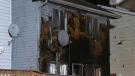 Fire crews knocked down an early morning blaze on Tarington Green N.E.