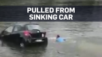 Sydney police pluck woman from sinking car