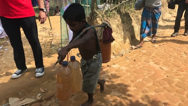 CTV National News correspondent Peter Akman travels to the Balukhali refugee camp in Bangladesh, near the Myanmar border. (Peter Akman / CTV News)