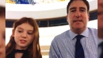 Carlie Weinreb and her father Lorne Weinreb talk to CTV News Channel on Oct. 16, 2017. (CTV News Channel)