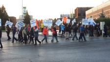 Algonquin College strike action over