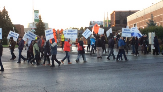 Conestoga students rally as faculty strike enters 5th week