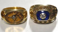 Police released this photo of Blue Jays rings that were stolen more than two decades ago. (Peel Regional Police handout)