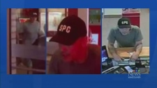 Bank robber threatens teller with knife