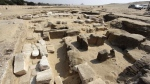 This undated photo released by the Egyptian Ministry of Antiquities shows the remains of a recently discovered temple for King Ramses II, in Abusir, southwest of Cairo. (Egyptian Ministry of Antiquities via AP)