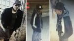 Supplied photograph of the suspects believed to be involved in a gas station robbery on Sunday