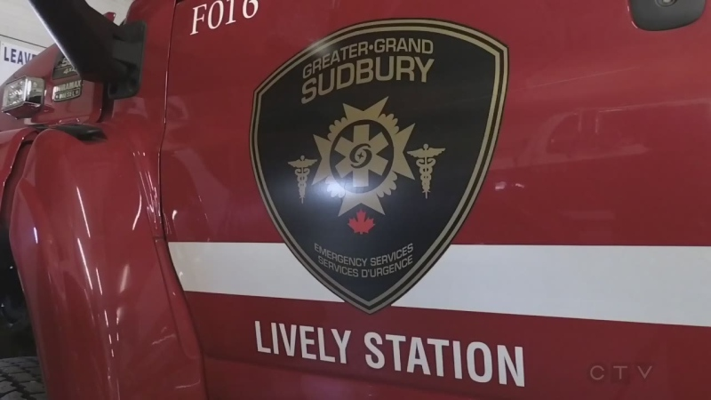 City of Greater Sudbury Fire Services fire truck from the Lively station. (CTV Northern Ontario)