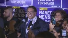 Mayor, Calgary mayor, Naheed Nenshi, reelected, ca