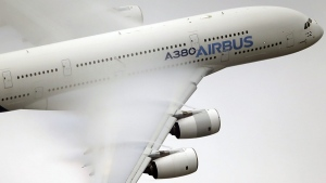 An Airbus A380 at the Paris Air Show, on June 18, 2015. (Francois Mori / AP)