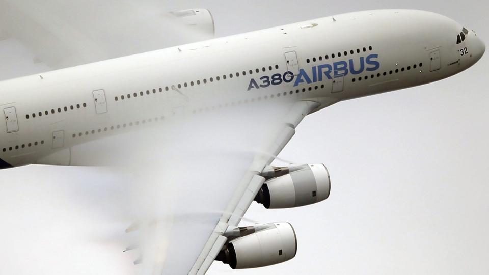 An Airbus A380 at the Paris Air Show, on June 18, 2015. (Francois Mori / AP)