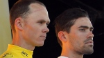 Chris Froome and Tom Dumoulin at the Tour de France, on July 15, 2016. (Peter Dejong / AP)