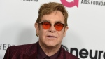 In this March 25, 2017 file photo, Elton John arrives at Elton John's 70th Birthday and 50-Year Songwriting Partnership with Bernie Taupin celebration in Los Angeles. (Photo by Jordan Strauss/Invision/AP, File)