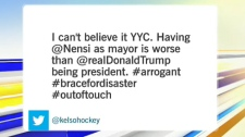 Sean Kelso, the director of communications for the Calgary Flames, commented about Nenshi's victory on Monday night.