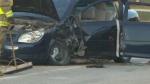 The crash happened near Starbuck, Man.