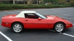 A Chevrolet Corvette similar to this one was used in an alleged robbery of a London gas station on Oct. 14, 2017. (London Police Service)