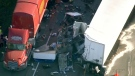 Highway 401, crash, Guelph Line