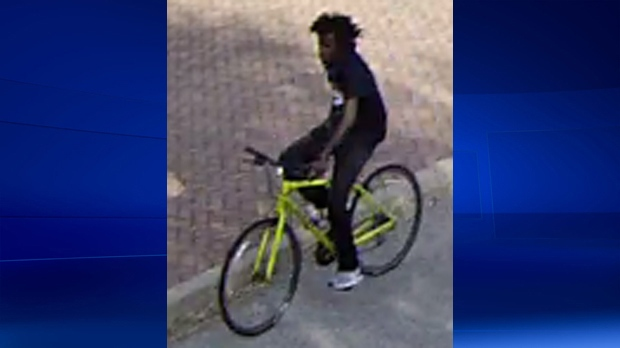 Brantford police say they want to talk to this man about an incident in a parking lot on Darling Street.