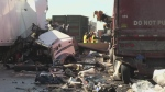 Chain-reaction crash on Highway 401