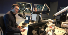 First-year Algonquin College journalism student Tyler Kidd (right) tells Newstalk 580 CFRA's Ottawa Now with Evan Solomon (left) some of his classmates are working together to keep their education going.