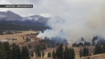 Wildfire is threatening a number of homes in the Crowsnest Pass and police are evacuating residents from the Coleman area.