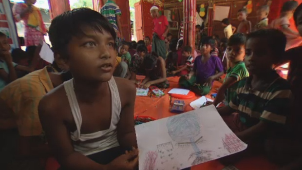 Hand-drawn pictures by Rohingya children reveal horrors ...