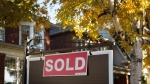 A real estate sold sign hangs in front of a west-end Toronto property, Friday, Nov. 4, 2016. The mayor of Toronto is expressing concern at the latest data on the city's hot housing market that shows home prices continue to soar. THE CANADIAN PRESS/Graeme Roy