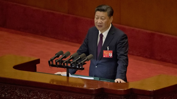 Chinese President Xi Jinping delivers a speech at the opening ceremony of the 19th Party Congress held at the Great Hall of the People in Beijing, China on Wednesday, Oct. 18, 2017. (AP / Ng Han Guan)