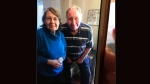 Police have released a photo of 79-year-old Eric Woodburn and 77-year-old Olive Woodburn, a missing elderly couple from Brampton. (Peel Regional Police Service handout)