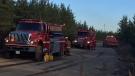 Fire crews were called around 4:30 a.m. Wednesday. (Source: Ryan Harding/CTV News)