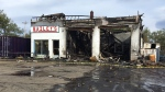 Bailey's Service Centre in Dominion, N.S. has been destroyed by fire.