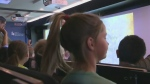 Mobile classroom teaches students about Holocaust