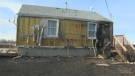 A home on the Siksika Nation was heavily damaged by wildfire, displacing the three people who live there.