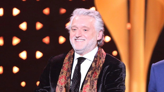 Gilbert Rozon, founder of Just for Laughs, accepts the prestigious Icon Award at the 2017 Canadian Screen Awards in Toronto on Sunday, March 12, 2017. (Peter Power / THE CANADIAN PRESS)
