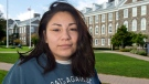 Kati George-Jim, an Indigenous student member of Dalhousie University's board of governors, is seen on campus on Tuesday, Oct. 18, 2017. George-Jim, a fourth-year political science student, is accusing the university of systemic racism after a confrontation with the board chairman at a meeting in June. (THE CANADIAN PRESS/Andrew Vaughan)