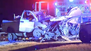 Two men, a 27-year-old from Chestermere and a 30-year-old from Calgary, were killed in a crash on Wednesday night.