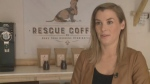 Claire Vaughan started the Rescue Coffee Company two years ago. Her coffee is fair trade and organic and 10 per cent of all sales are donated to different animal shelters.