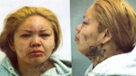 """Angela Bluecoat, 36, is wanted for theft under $5,000. The Manitoba woman is described as 5 foot 6 inches tall and 240 pounds, with an """"olive complexion"""" and a large tattoo of a flower on her neck."""