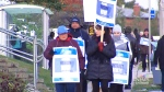 Students protest college strike at Queen's Park