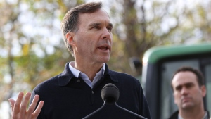 Minister of Finance Bill Morneau speaks during a tax reform announcement in Erinsville, Ont., Thursday Oct., 19, 2017. THE CANADIAN PRESS/Lars Hagberg