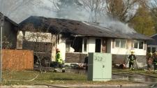 It happened on Rannock Avenue near Cullen Drive on Thursday afternoon. (Jon Hendricks/CTV)