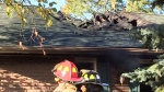 The roof of a residential daycare facility on Cedar Crescent in Barrie, Ont. was damaged by fire on Thursday, Oct. 19, 2017