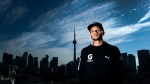 Canadian track and field star Andre De Grasse poses for a photograph after Athletics Canada held a press conference regarding the launch of the Toronto 2018 Track and Field in the 6ix in Toronto on Thursday, October 19, 2017. THE CANADIAN PRESS/Nathan Denette