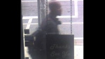A suspect wanted in an indecent act investigation is shown in a surveillance camera image. (TPS)